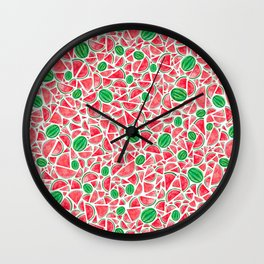 Watermelons Wall Clock