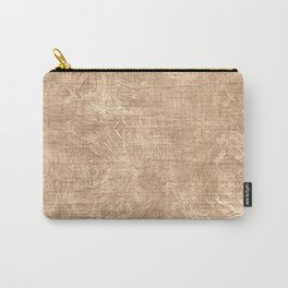 Toasted Almond Oil Painting Color Accent Carry-All Pouch