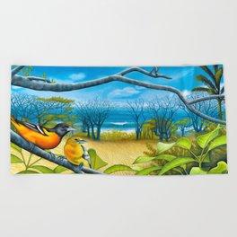Surf Report Beach Towel