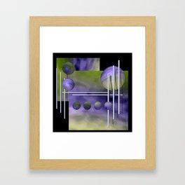 liking geometry -3- Framed Art Print