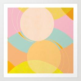 Balance - Shapes and Layers no.39 Art Print