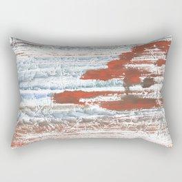 Orange blue marble wash drawing Rectangular Pillow