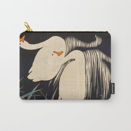 Two Swans Japanese Woodblock Print Vintage Historical Japanese Art Carry-All Pouch