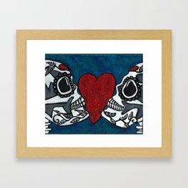 Amo y Besos (Love & Kisses) Framed Art Print