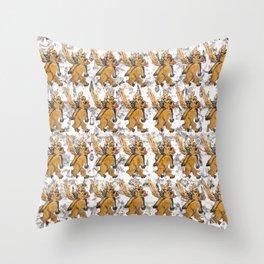 Bees Bears Throw Pillow