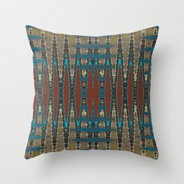 South Western Color Palette Mosaic Pattern Throw Pillow