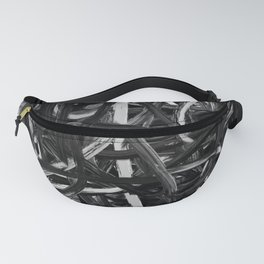Black & White Abstract III Fanny Pack