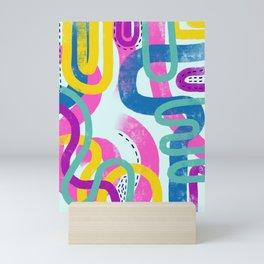 Fun bright abstract art Mini Art Print