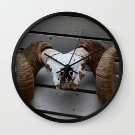 Big Horn Sheep Skull Wall Clock
