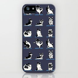 Husky Yoga iPhone Case