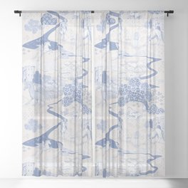 Mythical Creatures Toile Sheer Curtain