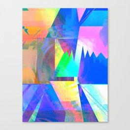 Pastel City Dreamscape Canvas Print