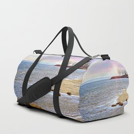 Sunset At The Beach - Tod's Point Duffle Bag