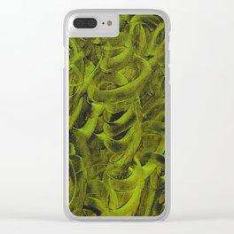 Pellucidar Sap Green Abstract Clear iPhone Case