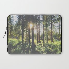sunlight through the forest trees Laptop Sleeve