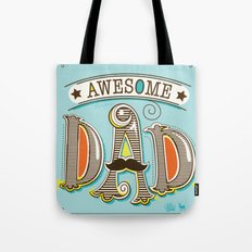 Awesome Dad Tote Bag