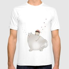 Ringo Smallz and his Mother Mens Fitted Tee White MEDIUM