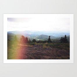 Dreamy Mountain Views Art Print