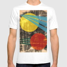 - abstract sunset - White MEDIUM Mens Fitted Tee