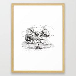 Mountain Sketch Framed Art Print