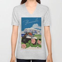 Romantic Bermuda travel Unisex V-Neck