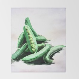 Peas in a Pod Throw Blanket