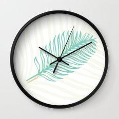 Jacksonville, Florida Palm Leaf Wall Clock