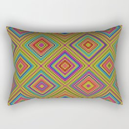 hang on to rhomb self Rectangular Pillow