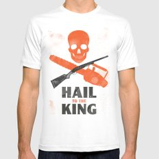 Hail to the King! Mens Fitted Tee White MEDIUM