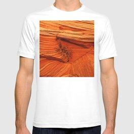 Red Rock Canyon Close-Up Iluminated By Vibrant Sunrise T-shirt