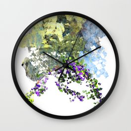 Floating Foral Bouquet Wall Clock