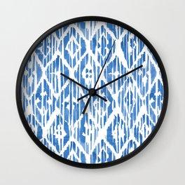 Shibori Classic Blue Tiki I Wall Clock