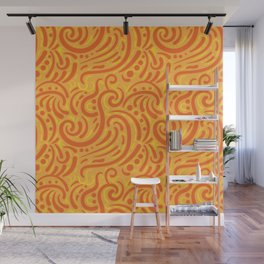 Seamless Tile Pattern - Modern Abstract Paisely Wall Mural