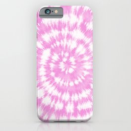 Pink & White Spiral Shibori  iPhone Case