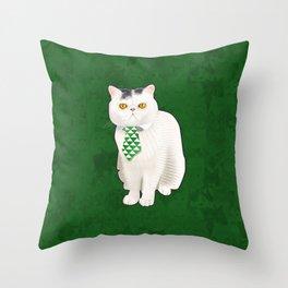 Dagoo (Green) Throw Pillow