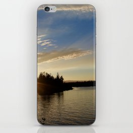 Sunset over the inlet iPhone Skin