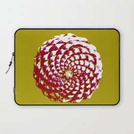 pine cone in olive green, purple and burgandy Laptop Sleeve