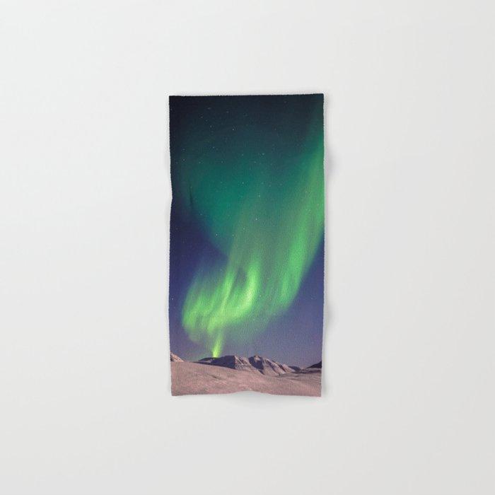The Northern Lights (Aurora Borealis) Hand & Bath Towel