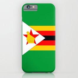 Zimbabwe country flag iPhone Case