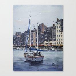 Le Vieux Bassin in Honfleur Canvas Print