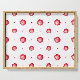 Poppy & Dots Pattern Serving Tray