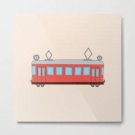 Vintage Tram Art Metal Print