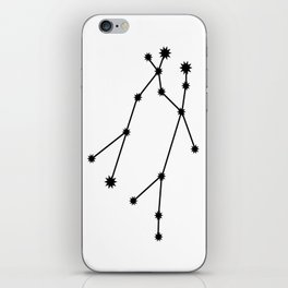 Gemini Astrology Star Sign Minimal iPhone Skin
