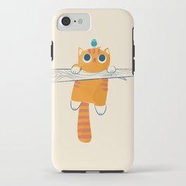 Fat cat, little bird iPhone Case