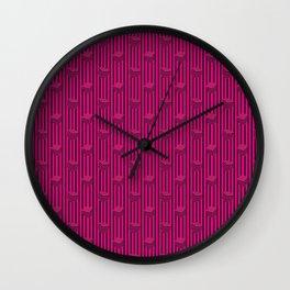 pink liquorice Wall Clock