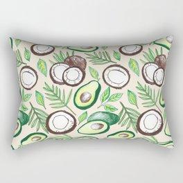Coconuts & Avocados Rectangular Pillow