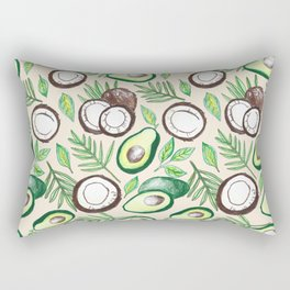 Coconuts & Avocados Rectangular Pillow