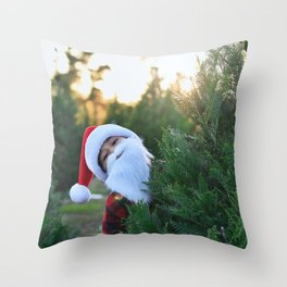 Santa Claus Is Coming To Town Throw Pillow