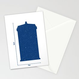 Tardis, Space and Time Stationery Cards