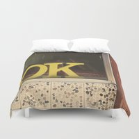 kim sy ok Duvet Covers featuring OK by Michelle & Chris Gerard